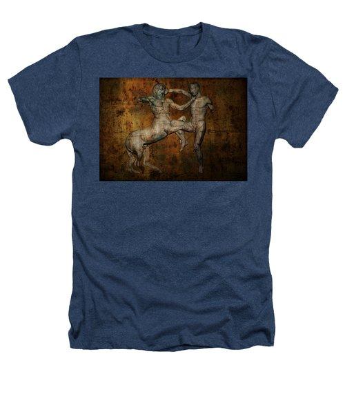 Centaur Vs Lapith Warrior Heathers T-Shirt by Daniel Hagerman