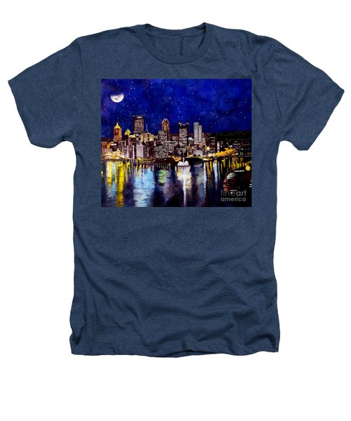 City Of Pittsburgh At The Point Heathers T-Shirt by Christopher Shellhammer