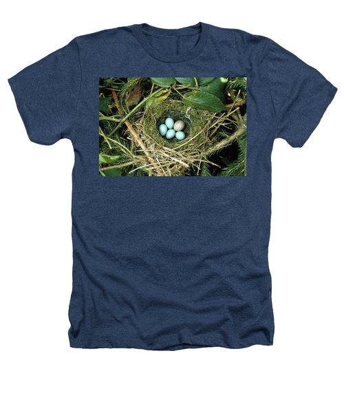 Common Cuckoo Cuculus Canorus Egg Laid Heathers T-Shirt by Jean Hall