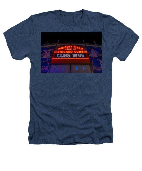 Cubs Win Heathers T-Shirt by Steve Gadomski