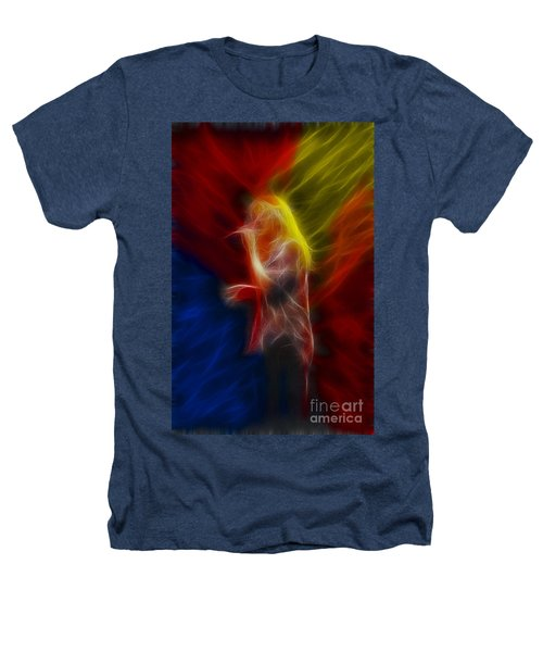 Def Leppard-adrenalize-joe-ga25-fractal Heathers T-Shirt by Gary Gingrich Galleries