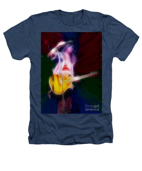 Deff Leppard-adrenalize-joe-gf25-fractal Heathers T-Shirt by Gary Gingrich Galleries