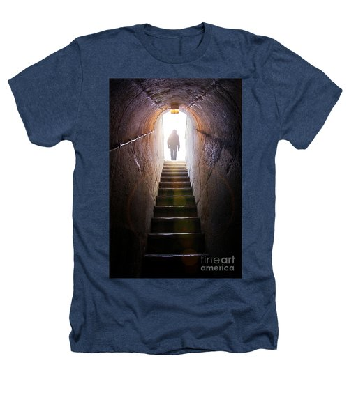 Dungeon Exit Heathers T-Shirt by Carlos Caetano