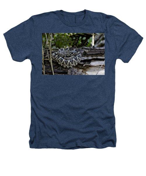 Eastern Diamondback-2 Heathers T-Shirt by Rudy Umans