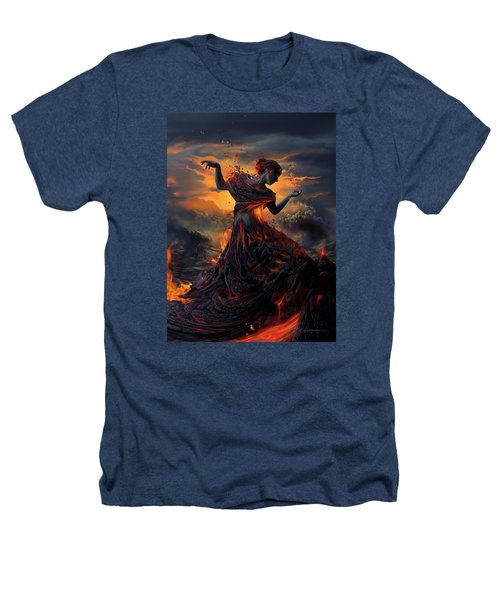 Elements - Fire Heathers T-Shirt by Cassiopeia Art