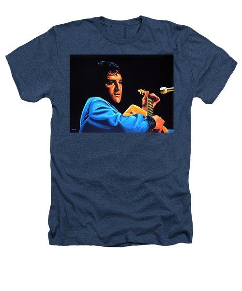 Elvis Presley 2 Painting Heathers T-Shirt by Paul Meijering