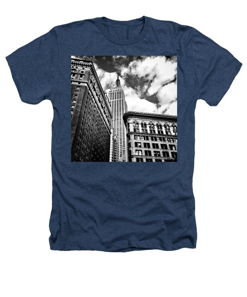 Empire State Building And New York City Skyline Heathers T-Shirt by Vivienne Gucwa