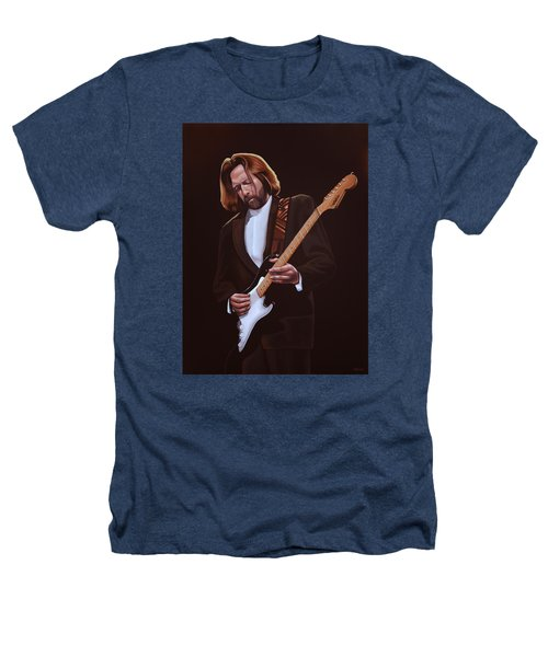 Eric Clapton Painting Heathers T-Shirt by Paul Meijering
