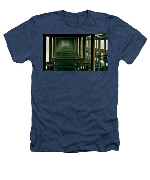Foggy Morning Under Bridge Heathers T-Shirt by Robert Frederick