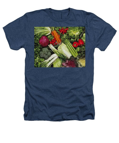 Food- Produce, Mixed Vegetables Heathers T-Shirt by Ed Young