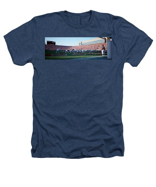 Football Game, Soldier Field, Chicago Heathers T-Shirt by Panoramic Images