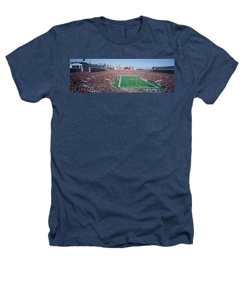 Football, Soldier Field, Chicago Heathers T-Shirt by Panoramic Images