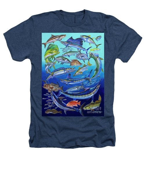 Gamefish Collage In0031 Heathers T-Shirt by Carey Chen