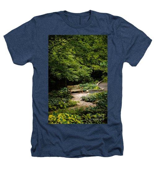 Garden Bench Heathers T-Shirt by Joe Mamer