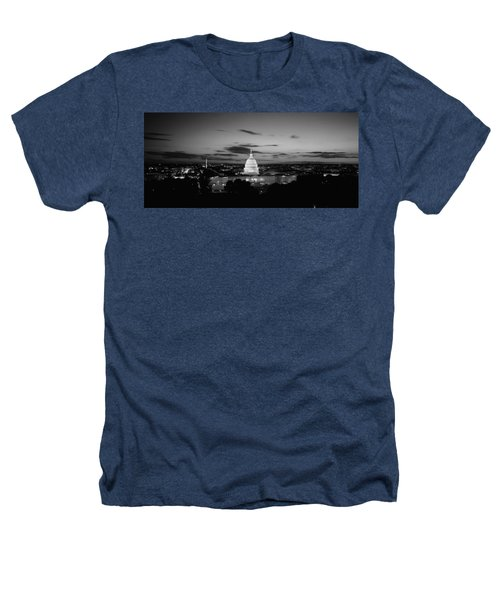 Government Building Lit Up At Night, Us Heathers T-Shirt by Panoramic Images