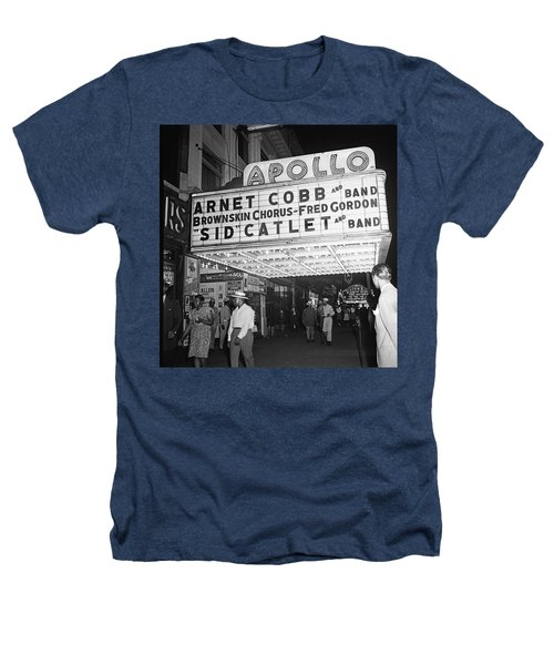 Harlem's Apollo Theater Heathers T-Shirt by Underwood Archives Gottlieb