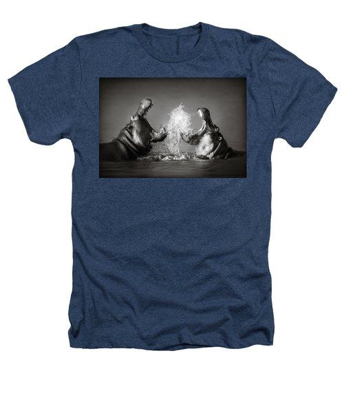 Hippo's Fighting Heathers T-Shirt by Johan Swanepoel