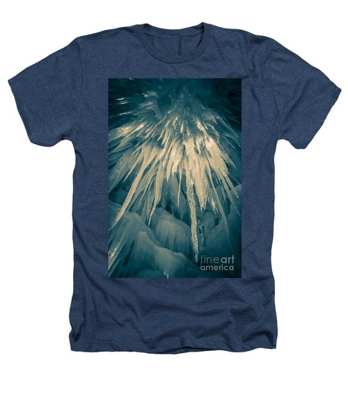 Ice Cave Heathers T-Shirt by Edward Fielding
