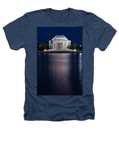 Jefferson Memorial Washington D C Heathers T-Shirt by Steve Gadomski