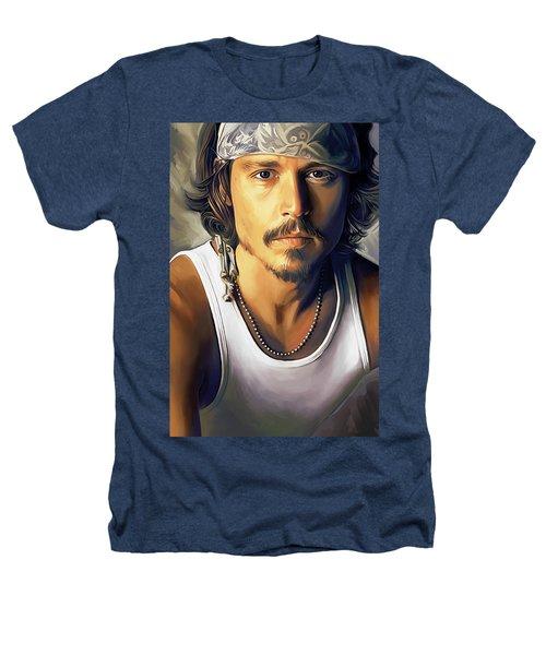 Johnny Depp Artwork Heathers T-Shirt by Sheraz A