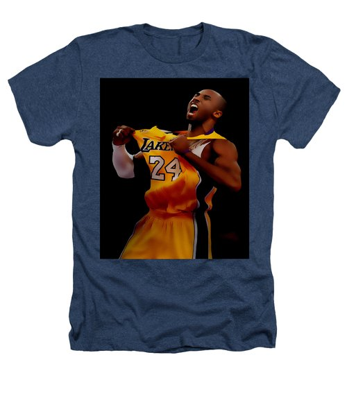 Kobe Bryant Sweet Victory Heathers T-Shirt by Brian Reaves