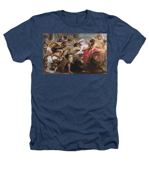 Lapiths And Centaurs Oil On Canvas Heathers T-Shirt by Peter Paul Rubens