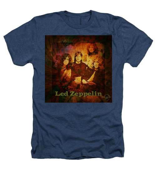 Led Zeppelin - Kashmir Heathers T-Shirt by Absinthe Art By Michelle LeAnn Scott