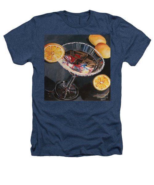 Lemon Drop Heathers T-Shirt by Debbie DeWitt