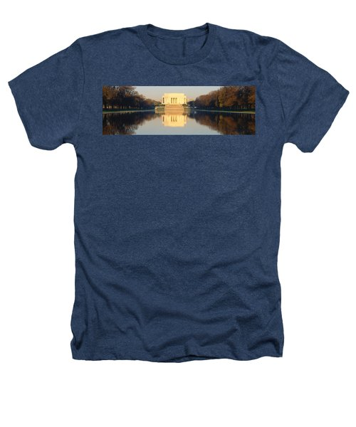 Lincoln Memorial & Reflecting Pool Heathers T-Shirt by Panoramic Images