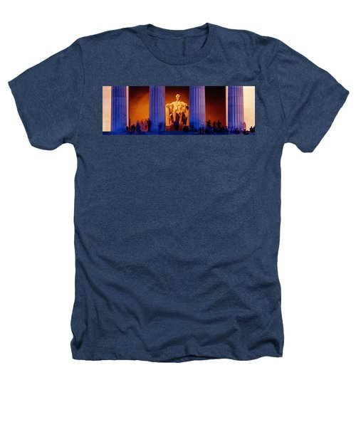 Lincoln Memorial, Washington Dc Heathers T-Shirt by Panoramic Images