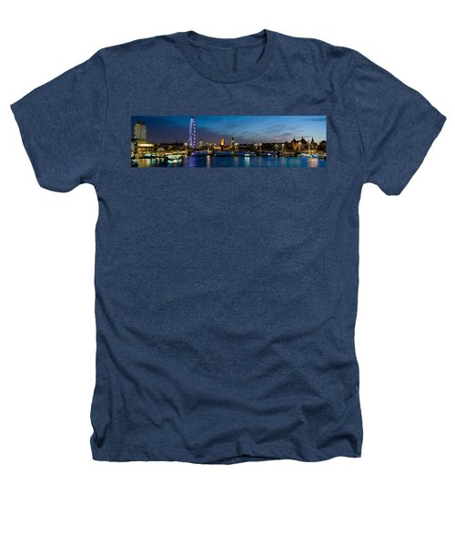 London Eye And Central London Skyline Heathers T-Shirt by Panoramic Images