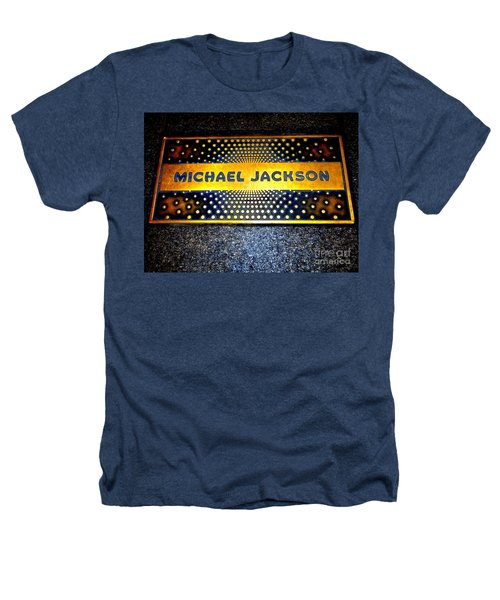 Michael Jackson Apollo Walk Of Fame Heathers T-Shirt by Ed Weidman