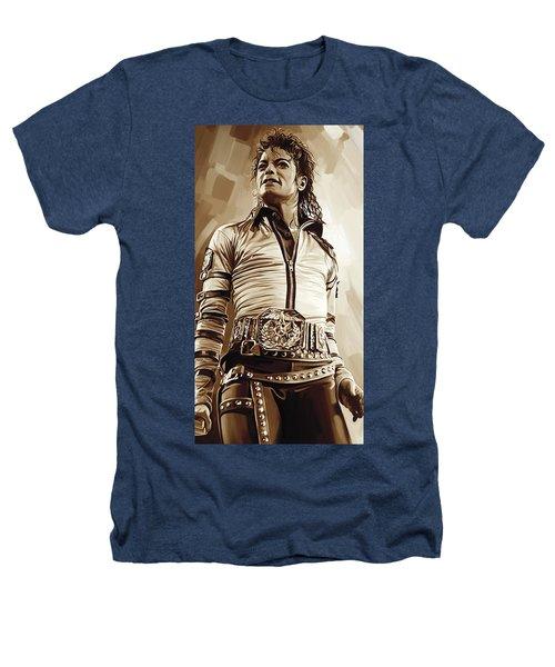 Michael Jackson Artwork 2 Heathers T-Shirt by Sheraz A