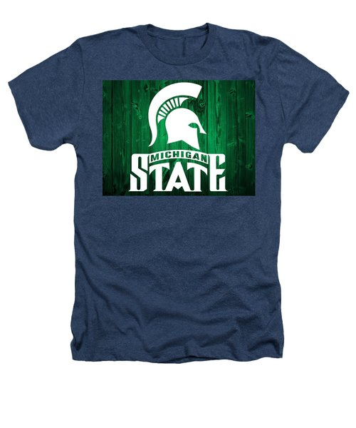 Michigan State Barn Door Heathers T-Shirt by Dan Sproul