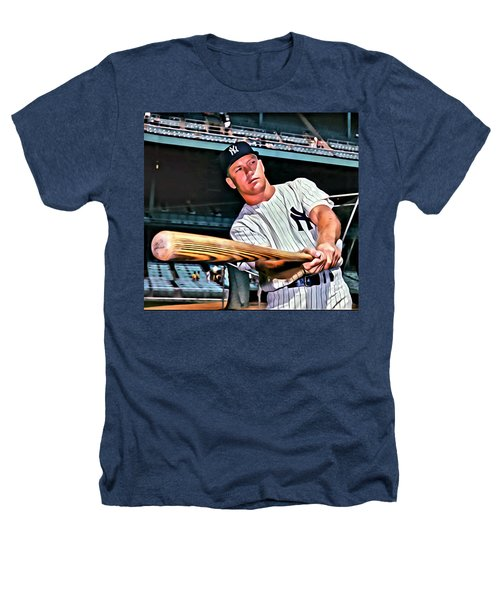 Mickey Mantle Painting Heathers T-Shirt by Florian Rodarte