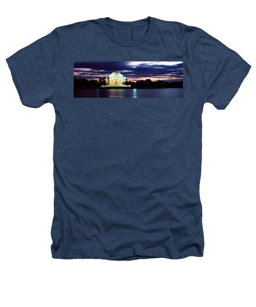 Monument Lit Up At Dusk, Jefferson Heathers T-Shirt by Panoramic Images