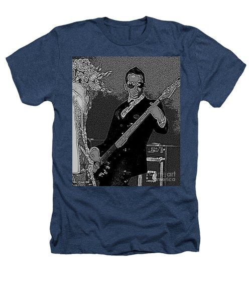 Bass Player Art Bw Heathers T-Shirt by Lesa Fine