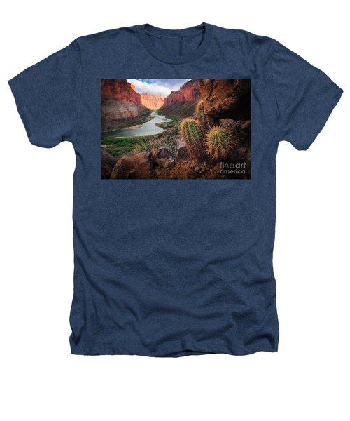 Nankoweap Cactus Heathers T-Shirt by Inge Johnsson