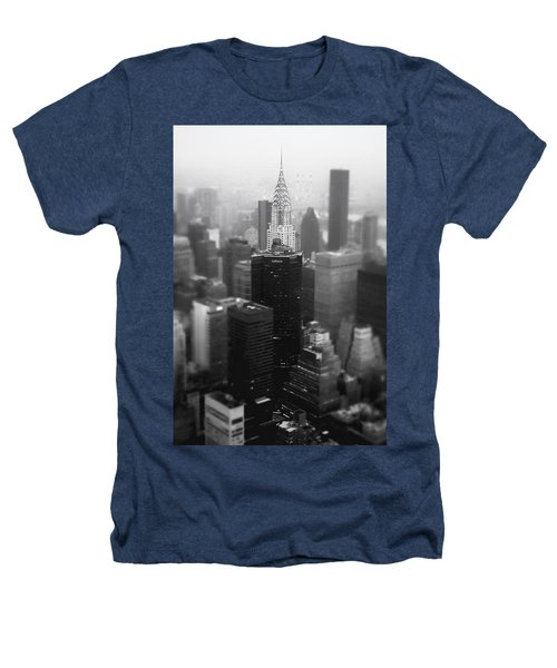 New York City - Fog And The Chrysler Building Heathers T-Shirt by Vivienne Gucwa