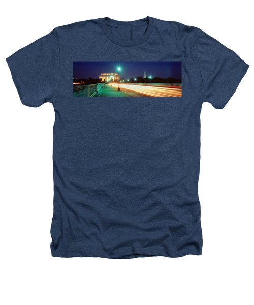 Night, Lincoln Memorial, District Of Heathers T-Shirt by Panoramic Images