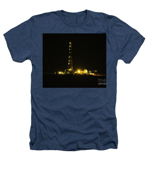 Oil Rig Heathers T-Shirt by Jeff Swan