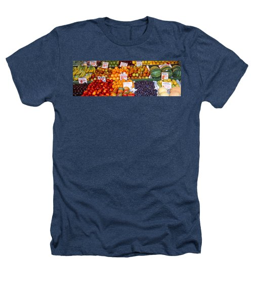 Pike Place Market Seattle Wa Usa Heathers T-Shirt by Panoramic Images