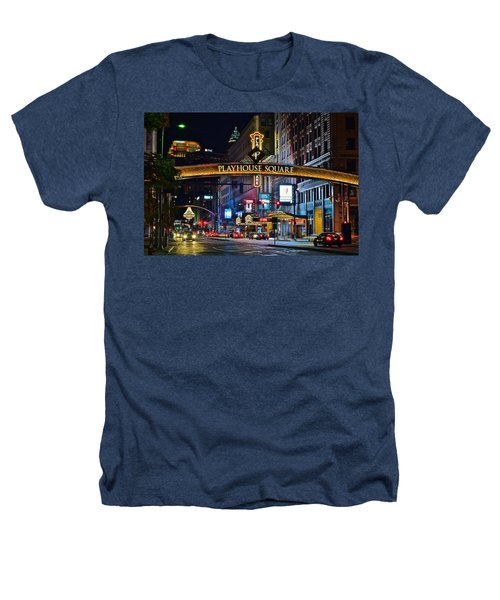 Playhouse Square Heathers T-Shirt by Frozen in Time Fine Art Photography