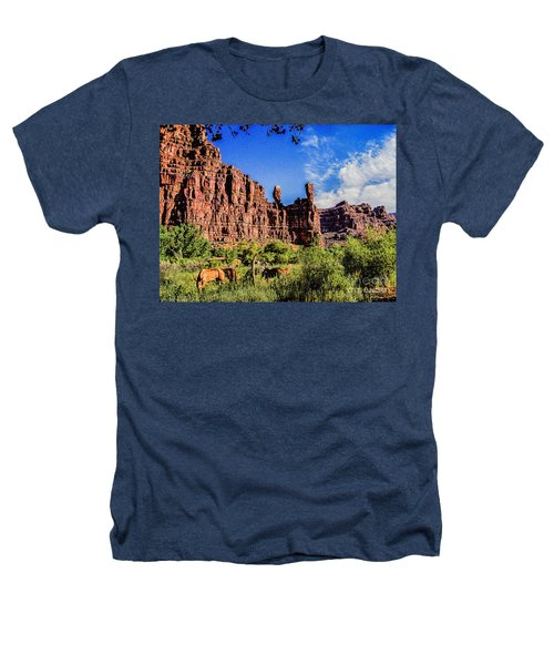 Private Home Canyon Dechelly Heathers T-Shirt by Bob and Nadine Johnston