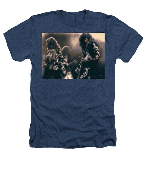 Raw Energy Of Led Zeppelin Heathers T-Shirt by Daniel Hagerman