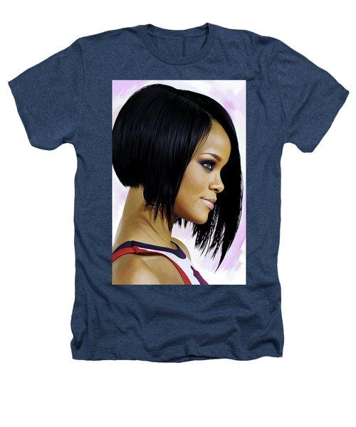 Rihanna Artwork Heathers T-Shirt by Sheraz A