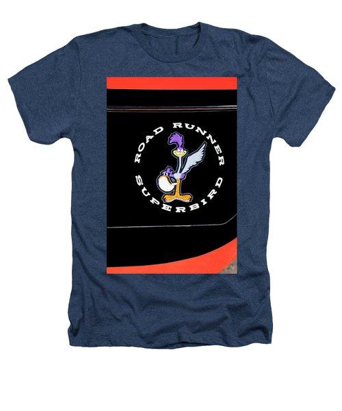 Road Runner Superbird Emblem Heathers T-Shirt by Jill Reger