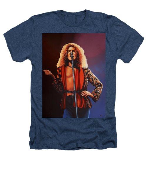 Robert Plant Of Led Zeppelin Heathers T-Shirt by Paul Meijering
