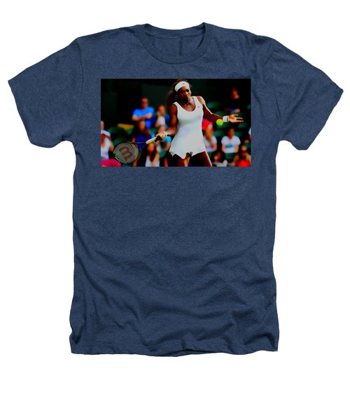 Serena Williams Making It Look Easy Heathers T-Shirt by Brian Reaves