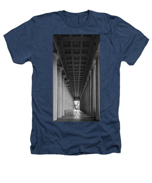 Soldier Field Colonnade Chicago B W B W Heathers T-Shirt by Steve Gadomski